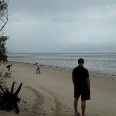 Photo taken at Toogoom Beach by Aaron H. on 12/23/2011