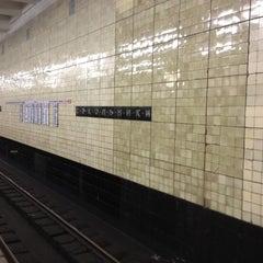 Photo taken at Метро Сокольники (metro Sokolniki) by Sergey B. on 6/15/2012