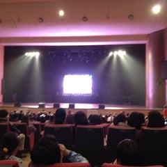 Photo taken at 연세대학교 대강당 (Yonsei University Main Auditorium) by Hyemin C. on 4/8/2012
