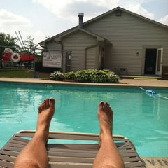 Photo taken at Sawmill Woods Condos Pool by Krystal S. on 5/28/2012