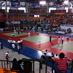 Photo taken at Polideportivo Ignacio Manuel Altamirano by Kary S. on 6/6/2012