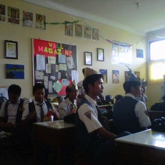 Photo taken at XII IPA 5 SMAN 1 Sindang by Refin W. on 4/8/2011