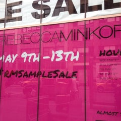 Photo taken at Rebecca Minkoff Sample Sale by Erin E. on 5/8/2012