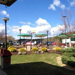 Photo taken at Lee Service Plaza (Eastbound) by Rob M. on 4/2/2012