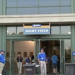 Photo taken at Right Field Gate by Elissa C. on 8/16/2011