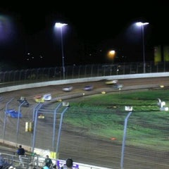 Photo taken at The Dirt Track at Charlotte Motor Speedway by Delcenia D. on 10/12/2011