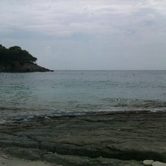 Photo taken at Srebrena beach by Toni w. on 9/3/2012