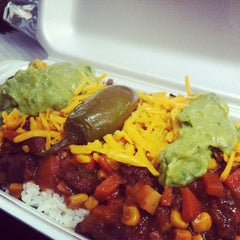 Photo taken at Pancho's Burritos by Jonnie B. on 4/24/2012