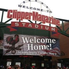 Photo taken at Clipper Magazine Stadium by Michelle W. on 5/2/2012