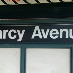 Photo taken at MTA Subway - Marcy Ave (J/M/Z) by Matthew G. on 1/5/2012