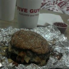 Photo taken at Five Guys by Journey Maps on 8/18/2012