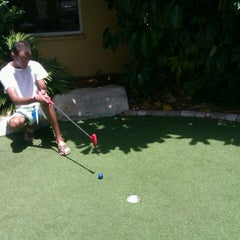 Photo taken at Ron Jon Cape Caribe Miniature Golf Course by Angel M. on 7/6/2012