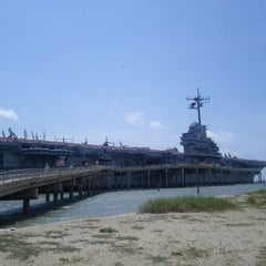 Photo taken at Beach by the USS Lexington by Melvin N. on 6/15/2012