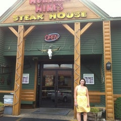 Photo taken at Montana Mike's Steakhouse by Anita on 7/29/2012