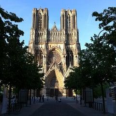 Photo taken at Cathédrale Notre-Dame de Reims by Aude H. on 5/26/2012