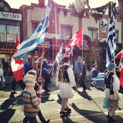 Photo taken at Greek Town, The Danforth by Jeremy B. on 10/30/2011
