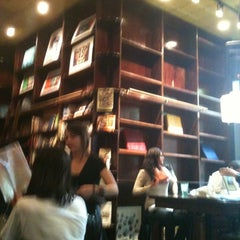 Photo taken at Busboys and Poets by Roni C. on 4/14/2012