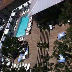Photo taken at Mondrian Hotel by Sandra M. on 7/26/2011