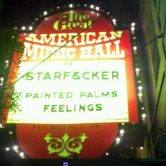 Photo taken at Great American Music Hall by Josh W. on 1/7/2012