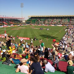 Photo taken at 7he Sevens Rugby Ground by Leticia B. on 12/3/2011