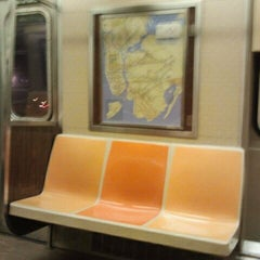 Photo taken at MTA Subway - A Train by Ms P. on 11/8/2011