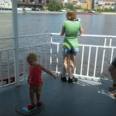 Photo taken at Harriet Island Fireworks on Great River Passage by Rick V. on 7/28/2012