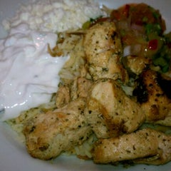Photo taken at Yamas Mediterranean Grill by Alison M. on 5/11/2012
