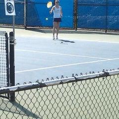 Photo taken at Sarni Tennis Facility by Jenny S. on 4/20/2012