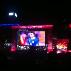 Photo taken at Official Fan Zone of UEFA EURO 2012 by Dmitriy M. on 7/2/2012