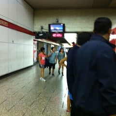 Photo taken at Metro Los Héroes by Ruby L. on 4/1/2012