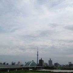 Photo taken at 四つ木橋 by Jun I. on 6/23/2012
