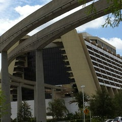 Photo taken at Disney's Contemporary Resort by Michael L. on 4/18/2012