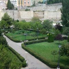 Photo taken at Parque del Huecar by Marianaki V. on 9/11/2011