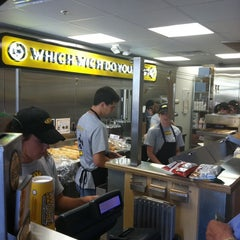 Photo taken at Which Wich? Superior Sandwiches by Mark T. on 7/14/2011
