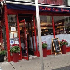 Photo taken at Mon Petit Café by KJ on 6/17/2012