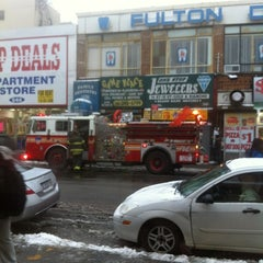 Photo taken at MTA Bus - B44/B44 +SBS - Nostrand Ave & Fulton St by Nerisha R. on 1/21/2012