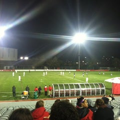Photo taken at Nickerson Field by Joanna F. on 10/26/2011