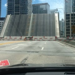 Photo taken at Brickell Ave Bridge by Pablo A. on 5/4/2012