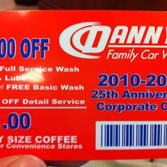 Photo taken at Danny's Family Car Wash by Kristine B. on 5/14/2012