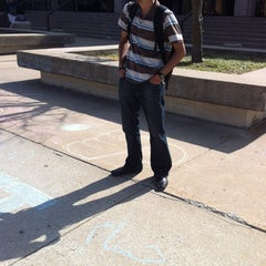 Photo taken at Wescoe Beach by Hussam A. on 3/14/2012