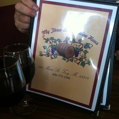 Photo taken at My three ladies wine haus by Donna C. on 7/1/2012
