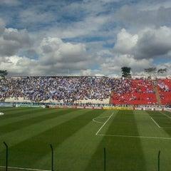 Photo taken at Estádio Joaquim Henrique Nogueira (Arena do Jacaré) - Democrata Futebol Clube by wendell m. on 10/16/2011