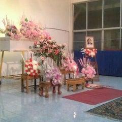 Photo taken at วัดเนื่องจำนงค์ by GiGy C. on 2/1/2012