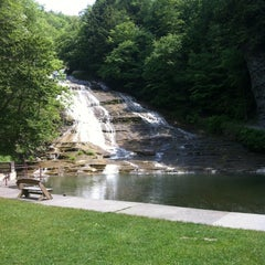 Photo taken at Buttermilk Falls State Park by Lindsey B. on 5/30/2012