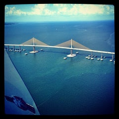 Photo taken at Sunshine Skyway Bridge by Sean S. on 7/21/2012