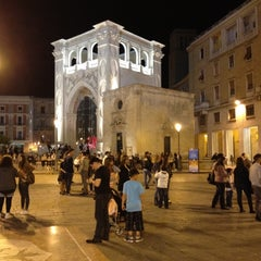 Photo taken at Piazza Sant'Oronzo by Alessio G. on 4/30/2012