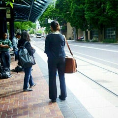 Photo taken at TriMet PSU/SW 6th & Montgomery MAX Station by Melissa F. on 6/13/2012