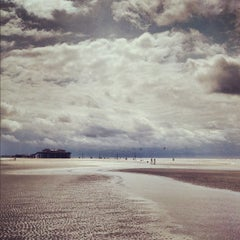Photo taken at St. Peter-Ording Strand by Fritztram on 8/10/2012