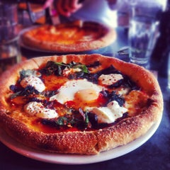 Photo taken at Pizza East by Katie M. on 6/9/2012