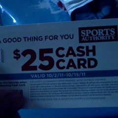 Photo taken at Sports Authority by Ben R. on 9/15/2011